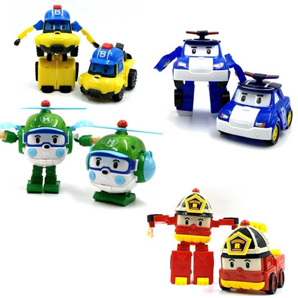 Piècesensemble Figure Nouveau4 Robocar Corée Acion Robot Voiture lFJK1Tc