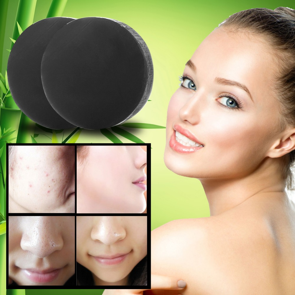 New Activated Charcoal Crystals Handmade Soap Face Skin Whitening Soap For Remove Blackhead And Oil Control Washing New