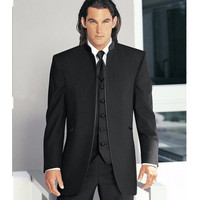 Custom Made Groom Tuxedo china Styles Groomsmen New Arrival Wedding Dinner Suits Best Man Bridegroom (Jacket+Pants+Tie+Vest)