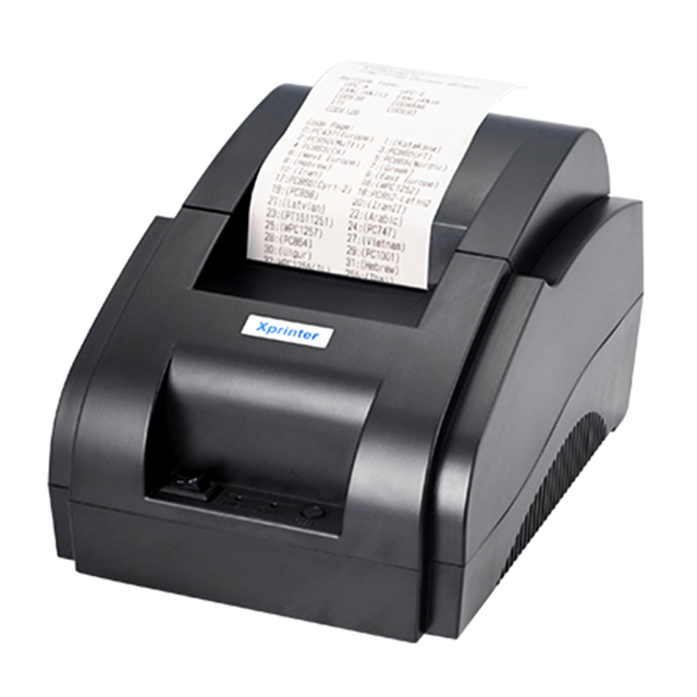 Impresora térmica 58mm impresoras de recibos para XP-58IIH restaurante supermercado ropa apoyo General 58mm ancho Puerto USB 5890 K