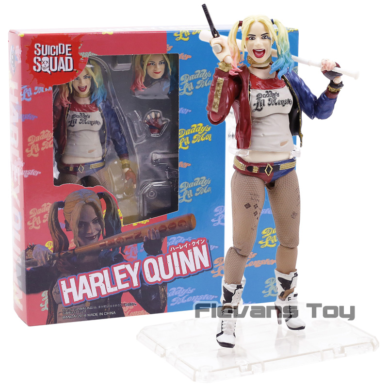 DC Suicide Squad Harley Quinn SHF SHFiguarts Margot Robbie Figure Toy Doll Brinquedos Figurals Collection Gift