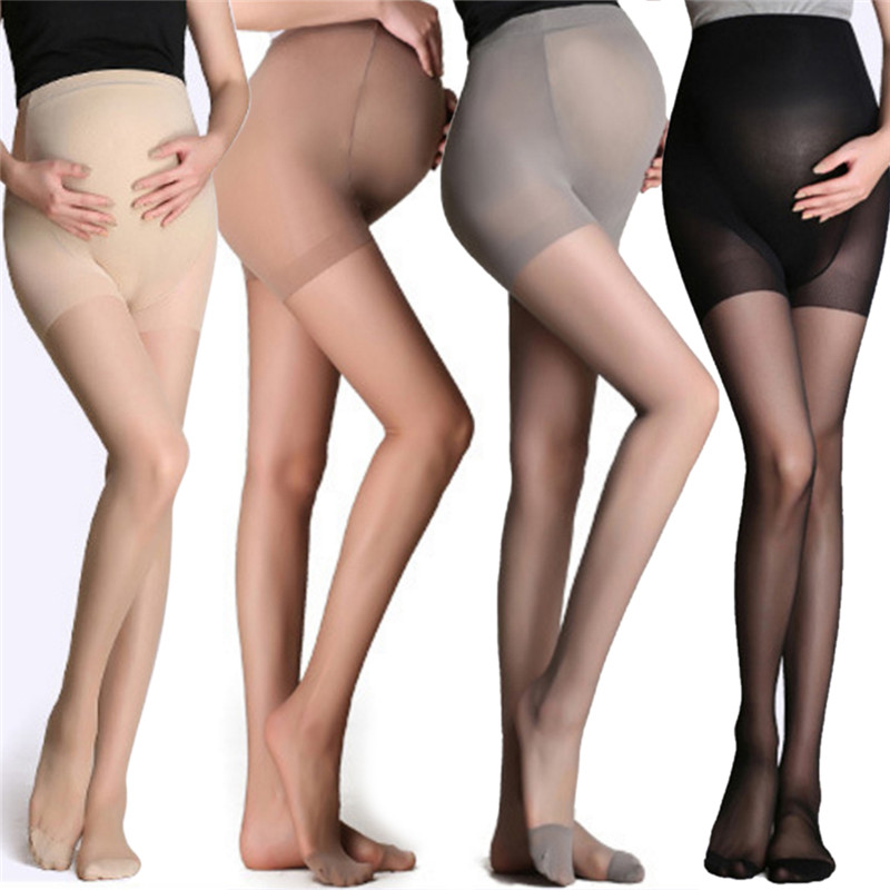 Adjustable High Elastic Leggings Ummer Maternity Pregnant Women Pregnancy Pantyhose Ultra ThinTights Stockings