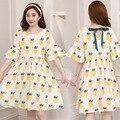 Женское свободное платье с принтом ананаса  юбка для беременных  лето 2019