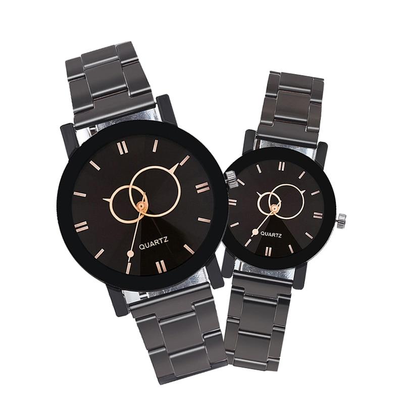 Fashion Luxury Men Steel Strap Quartz Watch Clock Women Dress Ladies Watches Casual Lovers Couple Wristwatches Gift Reloj Mujer