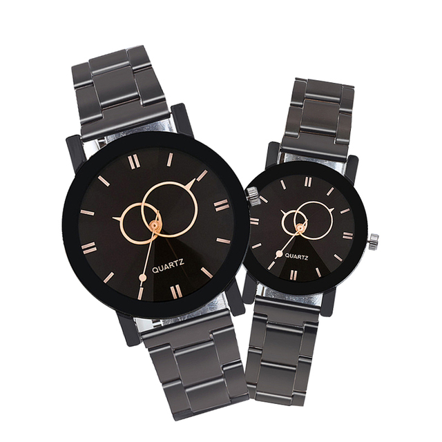 Fashion Luxury Men Steel strap Quartz Watch Clock Women Dress Ladies Watches Cas