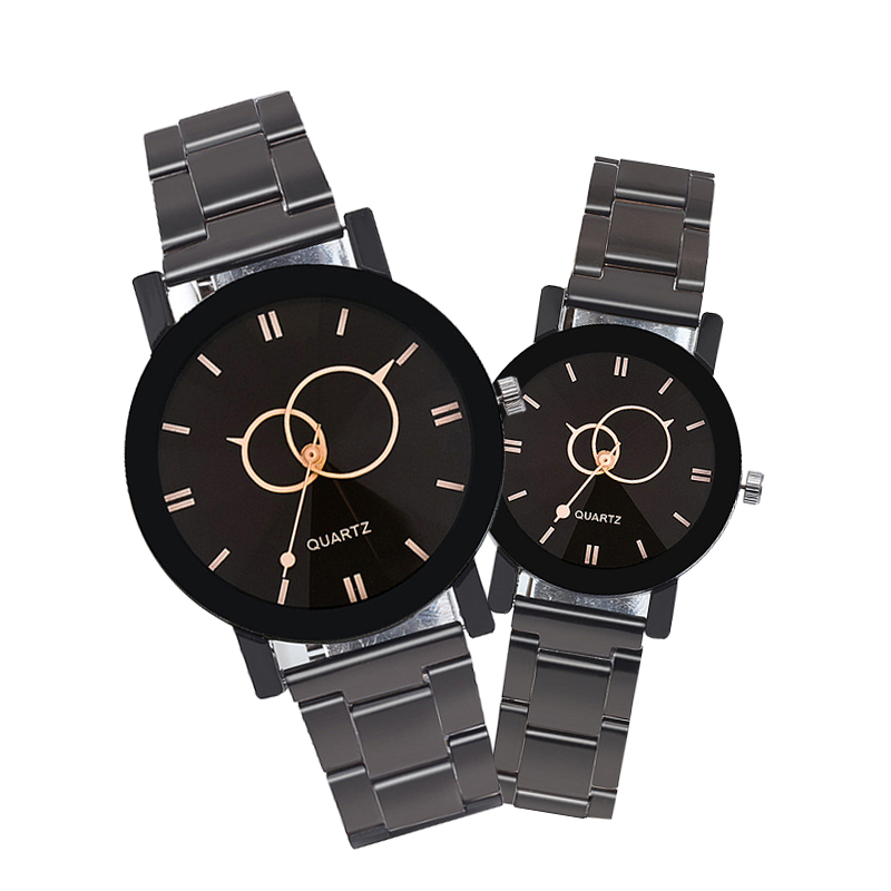 Fashion Luxury Men Steel strap Quartz Watch Clock Women Dres