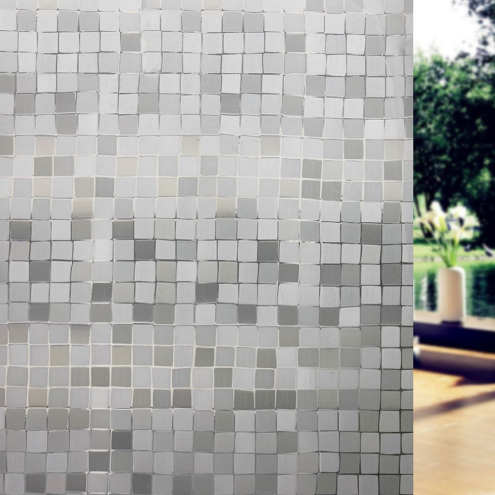 Modern 45*200cm Forsted Privacy PVC Windows Glass Film Cube Design ...