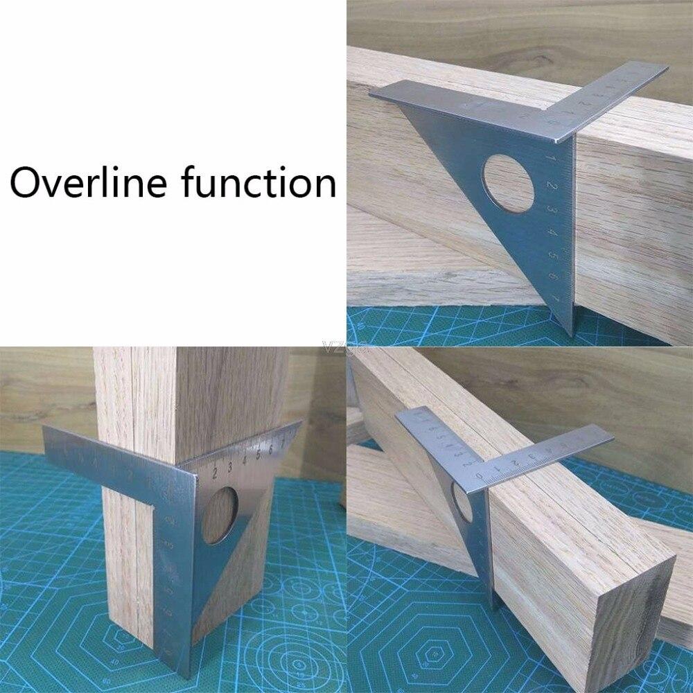 La lavorazione del legno Righello Piazza Layout di Mitra triangolare Rafter 45 sverdicono 90 gradi Metric Gauge MAY30 dropship