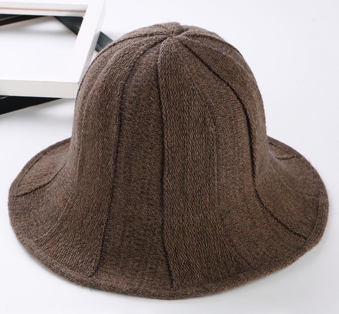 6pcs Women Pocketable Acrylic Knitting Bucket Hats for Spring Autumn ... 15e73873de66