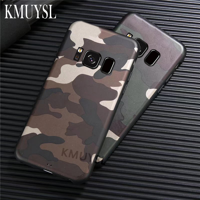 Camouflage Soft Cover For Samsung Galaxy A6 A7 A8 A9 2018 J4 J6 S8 S9 Plus J8 J2 Core A3 A5 J3 J5 J7 2017 S7 Edge Note 8 9 Case