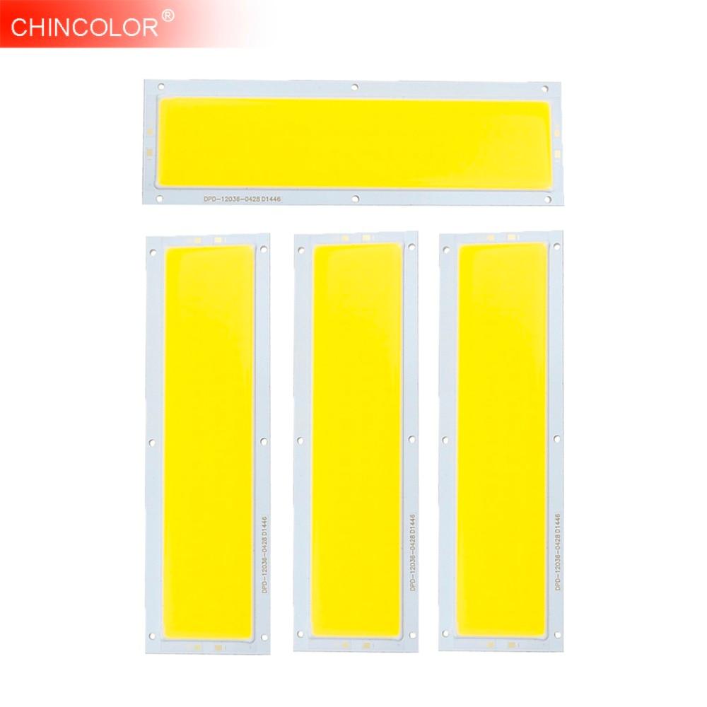 10 Вт лампы накаливания источник света УДАРА СВЕТОДИОДНЫЙ Панель полосы чип DC12V теплый белый холодный белый DIY внимания пол освещение 120*36 мм ...