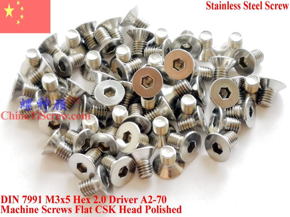 M4 X 6 Socket Countersunk Bolts CSK Allen screws A2 Stainless 20 PACK DIN 7991