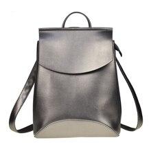 موضة المرأة على ظهره عالية الجودة بولي Leather حقائب ظهر للمراهقين الفتيات الإناث حقيبة كتف المدرسة على ظهره Mochila