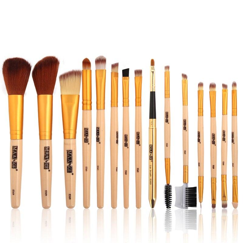 Professional 15PCS Makeup Brushes Set Make Up Blush Foundation Contour Powder Eye shadow Cosmetics