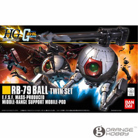 OHS Bandai HGUC 114 1/144 RB 79 Ball Twin Set Mobile Suit Assembly Model Kits