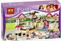 Bela 10160 bloques de construcción de amigos heartlake piscina parque enlighten ladrillo educativo juguetes para niñas compatible con lepin
