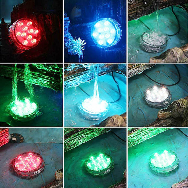 US $95.0 |KITOSUN 25pcs/lot RGB LED Pool Light Submersible underwater IP68  Swimming Pools lights for wedding party decoration Landscape-in Glow Party  ...