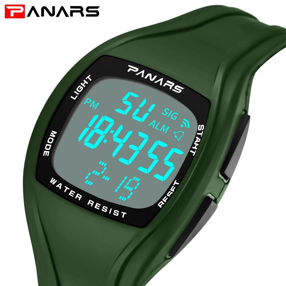 PANARS deportes reloj hombres marca de lujo LED Digital Relojes masculinos reloj de los hombres Relojes Deportivos Herren Uhren Relojes