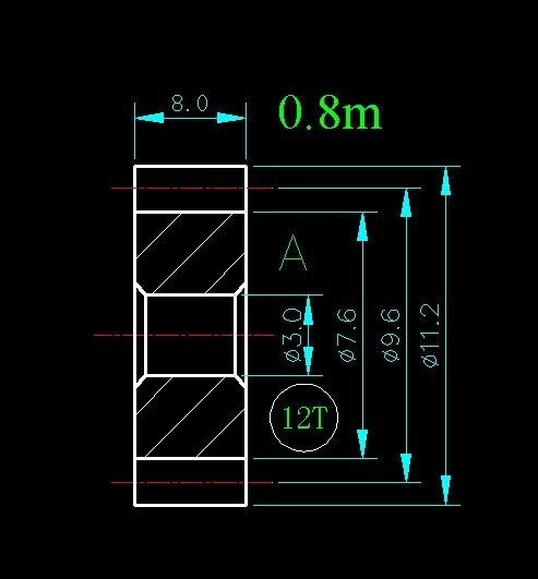 0.8m 12T/Hole 3mm 4mm/width 8mm/For Meat Grinder Parts etc. 0 8m 14t hole 3mm 4mm 5mm 6mm width 8mm for meat grinder parts etc