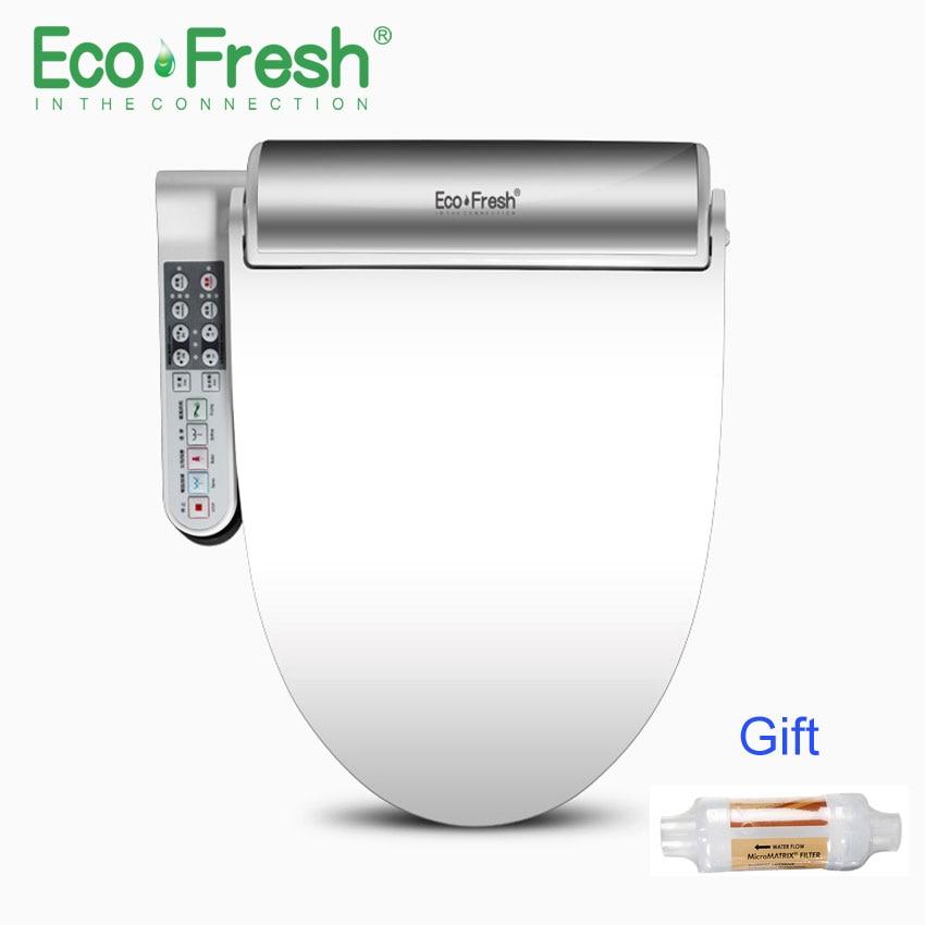 EcoFresh Intelligent siège de toilette Washlet Électrique Bidet intelligente chauffée siège de toilette couverture led éclairage De Massage soins pour enfant femme