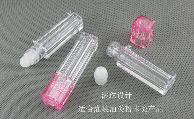 300 шт х 7 мл контейнер Пустые Квадратные трубки блеск-бальзам для губ масло для губ с шариковым аппликатором контейнер косметические принадлежности для макияжа аксессуары