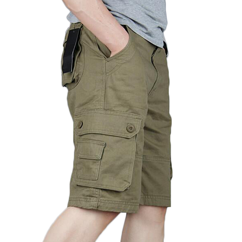 Zogaa Mens Military Cargo Shorts 2019 Brand Army Camouflage Knee Length Multi-pocket Loose Fit Bermuda Masculine Fashion Short