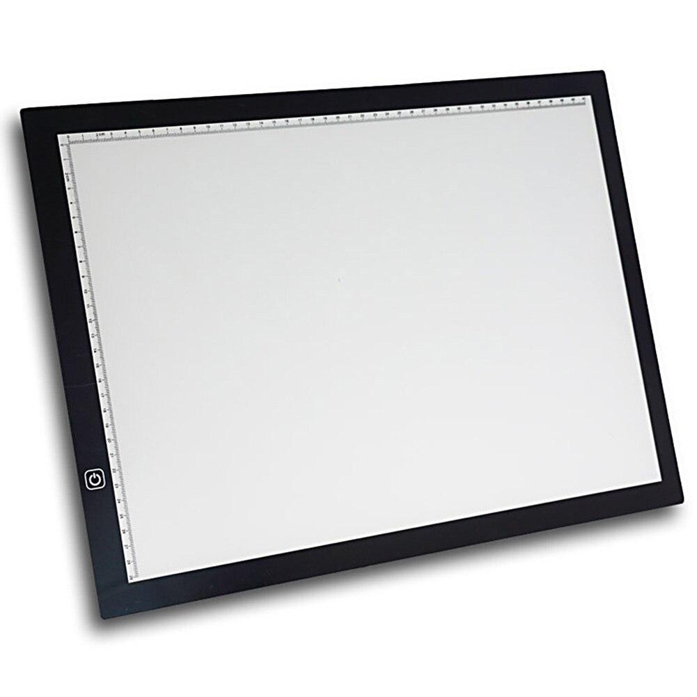 A3 Multifonctionnel Pochoir Peinture 3 Niveaux Ou Stepless Ajusté boîte à lumière led Art Design dessin numérique tableau de suivi