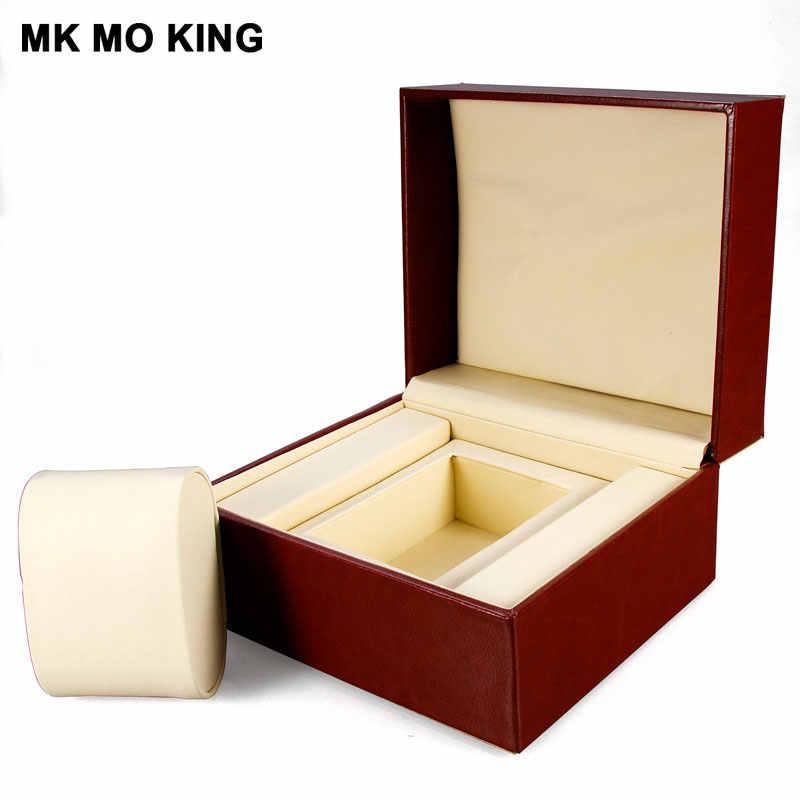 الجلود والمجوهرات الفاخرة العلامة التجارية هدية صندوق ل dw رولكس تيسو أوميغا لونجين بانيراي IWC AP الرجال ساعة نسائية علبة أساور