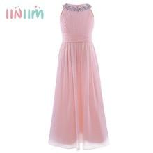 Iiniim eleganckie lato sukienka szyfonowa dziewczęca sukienka w kwiaty księżniczka sukienki dziecięce Vestidos kostiumy ślubna sukienka na przyjęcie urodzinowe