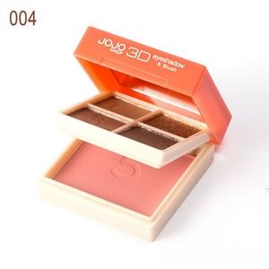 Doppel-schicht Design Tägliche Tragbare Kosmetik Vier Farben Lidschatten Box Orange-rosa Erröten Matte Schimmer Lidschatten kombination