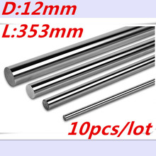 цены Free Shipping 12-353mm long 12mm L353mm linear shaft linear rail bushing shaft cnc linear rail 12mm rod cnc parts 3d printer