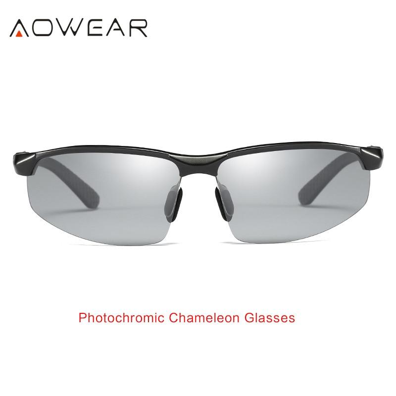 AOWEAR HD мужские фотохромные поляризованные солнцезащитные очки, мужские поляризованные очки-хамелеоны для дневного ночного вождения, антибликовые очки Gafas