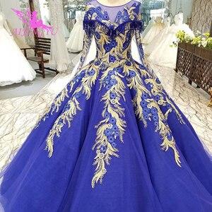 Image 4 - AIJINGYU אופנה חתונה שמלות יפה שמלות כדור סין מערבי כלה שמלות את שמלת חתונת שמלה עם Sheer חזרה