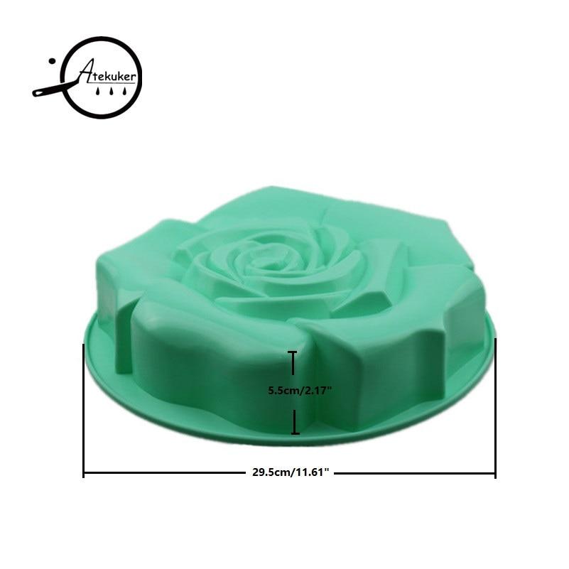 Atekuker Big Rose Blume Form Silikon Backform Zum Backen Gebäck - Küche, Essen und Bar - Foto 2
