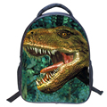 2016 nueva moda 3D dinosaurio de la Historieta niños mochila de impresión punk mochilas bolsa de la escuela jardín de infantes Mochila P907