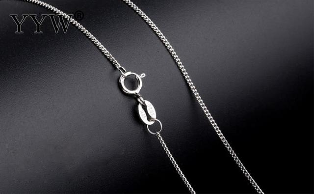 Sterling Silver Curb Chain Ideal for Pendants 16