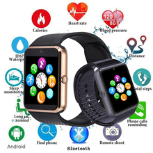 цена на HOT Men Smart Watch Clock Sync Notifier Support Sim TF Card Bluetooth Connectivity Android Phone Smartwatch Alloy Smartwatch X6