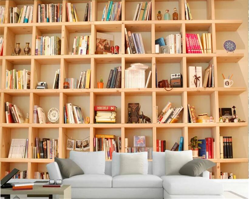 US $8.96 44% OFF|beibehang Vintage wallpaper book shelf 3D bedroom mural  decoration wallpaper background wallpaper wall 3d papel pintado pared-in ...