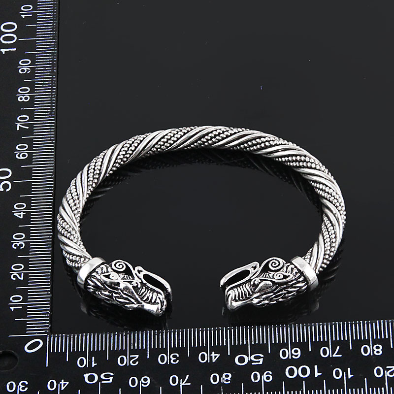 LAKONE Teen Wolf Head Bracelet Indian Jewelry Fashion Accessories Viking Bracelet Men Wristband Cuff Bracelets For Women Bangles 5