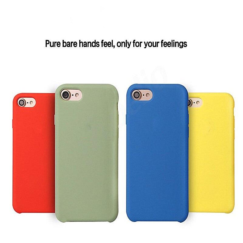 Original Silicone For iPhone 7 8 6 6s
