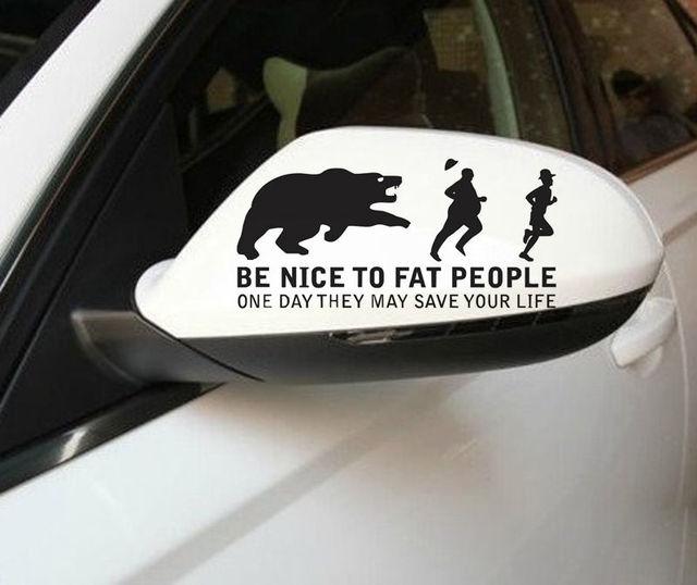 Creative New Wall Sticker Art Car Sticker Be Nice To Fat