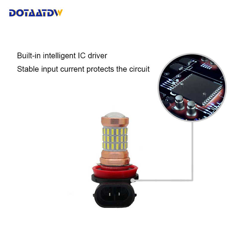 Dotaatdw 2x автомобиль светодиодный H8 H11 9005 HB3 9006 HB4 светодиодный свет вождения авто противотуманные фары противотуманные лампы