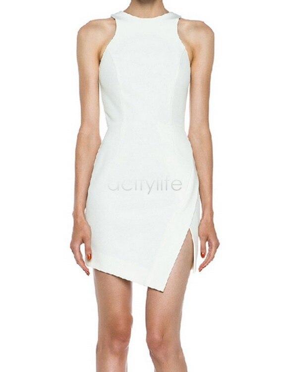 52a726dc8 ... Del Verano Del Tanque Vestidos Ocasionales Populares de Las Señoras  Bodycon Vestidos de La Manera de La Vendimia de Las Mujeres Mini Vestido  Blanco 38