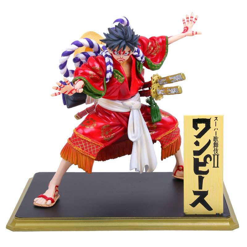 Anime One Piece POP Monkey D Luffy Kabuki Edition PVC Figure Collectible Model Toy 18cm RETAIL BOX anime one piece pop limited edition princess shirahoshi pvc action figure collectible model toy 28cm kt2369