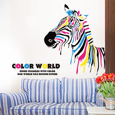 Large Unique Zebra Wall Sticker Vinyl Wall Decals Living Room Decor Peel  And Stick In Wall Stickers From Home U0026 Garden On Aliexpress.com | Alibaba  Group