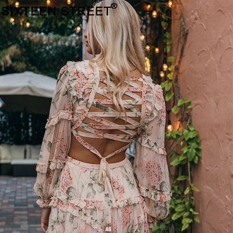 2019 Nieuwe zomer strand mini jurk vrouw spaghetti band kruis backless sexy diepe v print bodycon vestidos mode korte jurk - 2