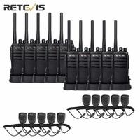 10X Walkie Talkie Retevis RT21+10X Speaker Mic UHF Portable Radio Scanner CTCSS/DCS Scrambler VOX Mobile Radio Communicator RU