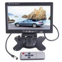 Универсальный 7 «7-дюймовый HD TFT LCD Автомобильный Монитор Камеры Цвет 2 av-входа Автомобильное Зеркало Заднего Вида Обратный Резервного Копирования для Парковки ВИДЕОМАГНИТОФОН Dvd-плеер