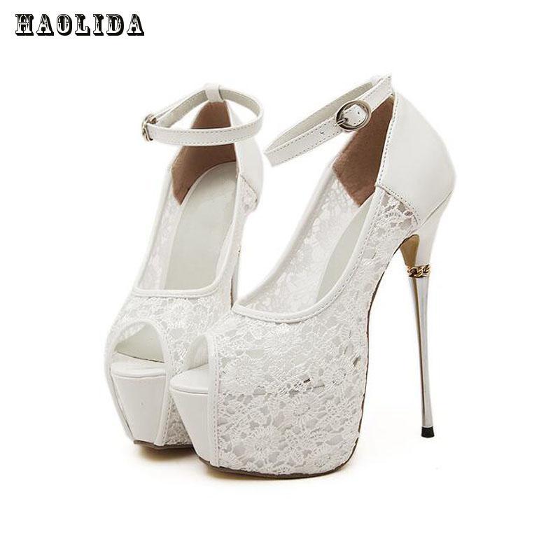 women summer sandals lace pumps women party sexy shoes platform pumps white wedding shoes stiletto heels open toe dress shoes women s sexy stiletto heels w rivet party shoes khaki golden 36