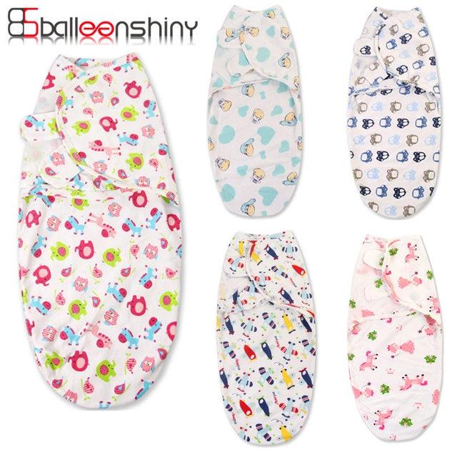 BalleenShiny Diapers cobertor Summer organic cotton infant parisarc Baby Wrap envelope swaddling swaddle Sleep bag baby bedding